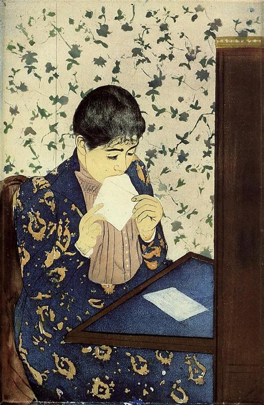 the-letter-1891 - Mary Cassatt