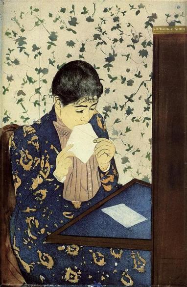 """Mary Cassatt, """"The Letter"""", 1891."""