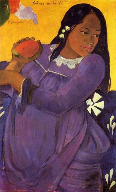 "Paul Gauguin, ""Woman with a Mango"", 1892."