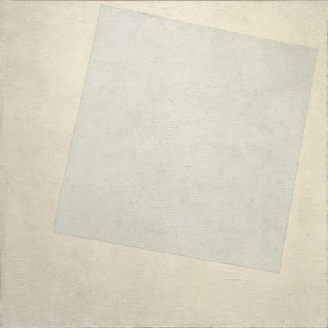 "Kazimir Malevich. ""White on White"", 1918."