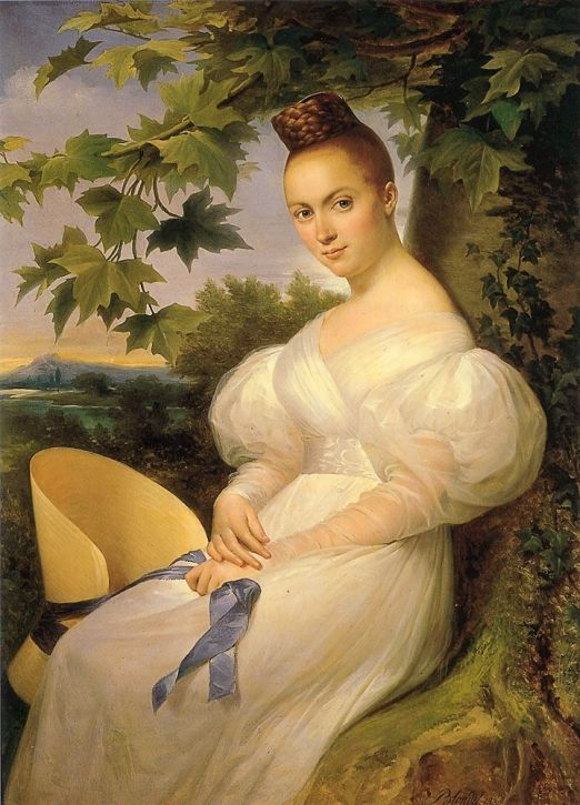 "Merry-Joseph Blondel, ""Woman seated beneath a tree"", 1830."