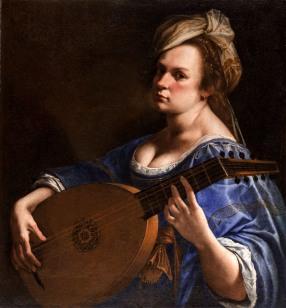 Artemisia Gentileschi, Self-Portrait as a Lute Player, c. 1617