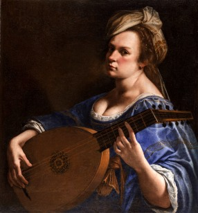 Artemisia Gentileschi, Self-Portrait as a Lute Player, c. 1617
