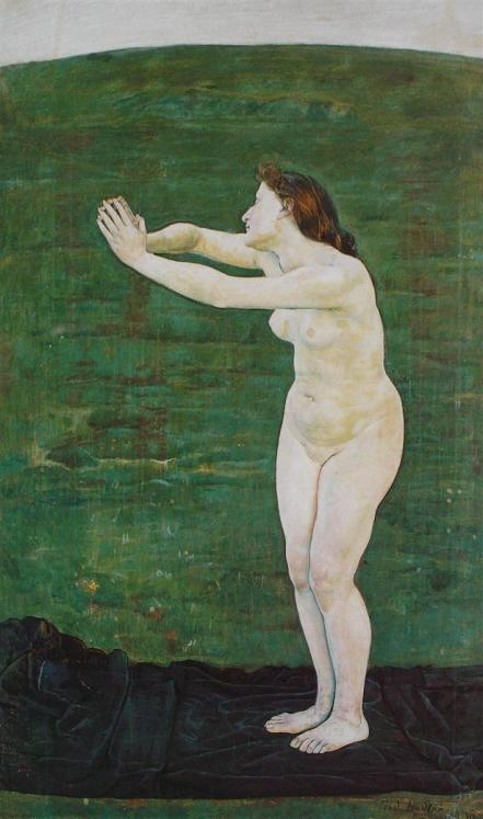 Ferdinand Hodler, Communication with the Infinite,1892.