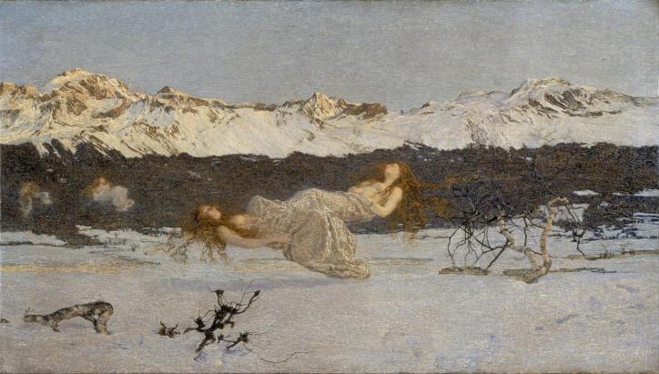 Giovanni Segantini. The Punishment of Lust, also called The Punishment of Luxury, 1891.