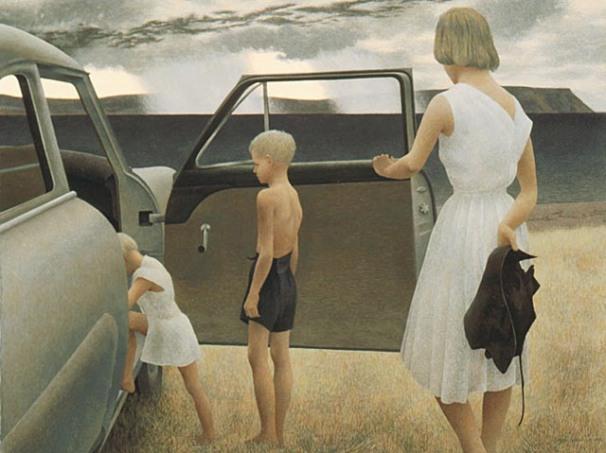 Alex Colville, 'Family and rainstorm',1955