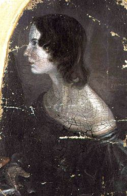 Painted by Patrick Branwell Brontë, c. 1833. The identity of this picture is now disputed; sources are in disagreement over whether this image is of Emily or Anne