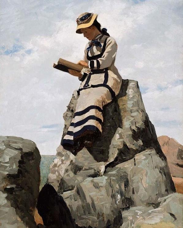 John George Brown, Reading on the Rocks