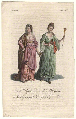 Tragic and Comic Muses, Unknown artist, circa 1760s