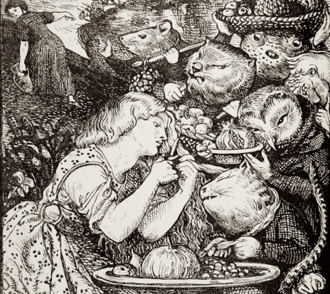 Dante Gabriel Rossetti. Frontispiece to Christina Rossetti's Goblin Market and Other Poems.