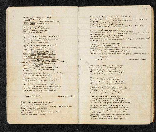 Manuscript of Emily Brontë's Gondal Poems (British Library)