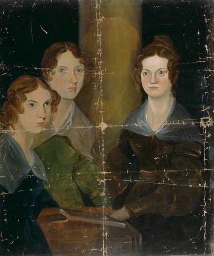 The Brontë Sisters (Anne Brontë; Emily Brontë; Charlotte Brontë) by Patrick Branwell Brontë, oil on canvas, circa 1834.
