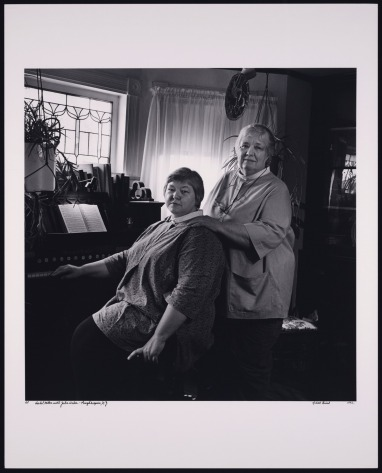 Isabel Miller with Julie Weber. Photo by Jonathan G. Silin., 1992