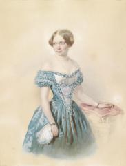 16_Johann_Nepomuk_Horrak_Bildnis_MEE_in_blauem_Kleid_1851