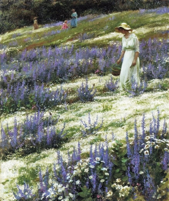 Charles Courtney Curran (American artist, 1861-1942) Ladies on a Hill