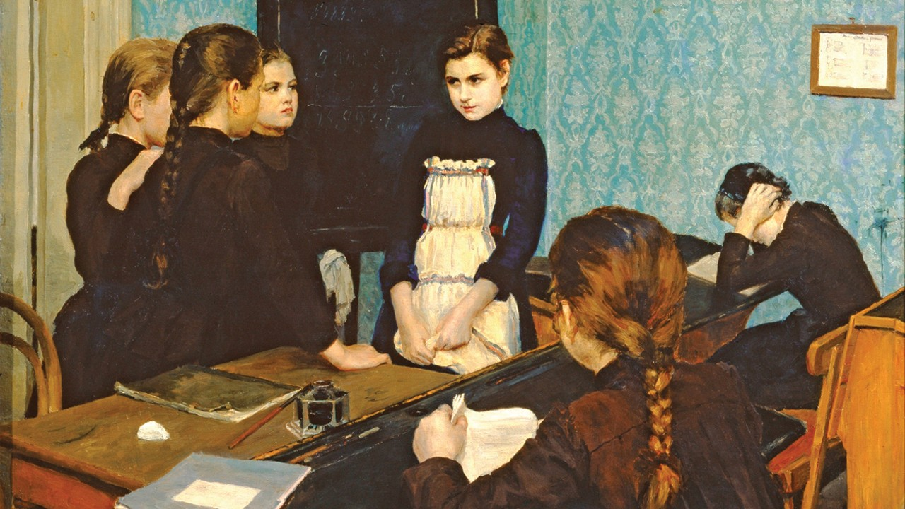 New-comer at Gymnasium, by Emily Shanks (1892)