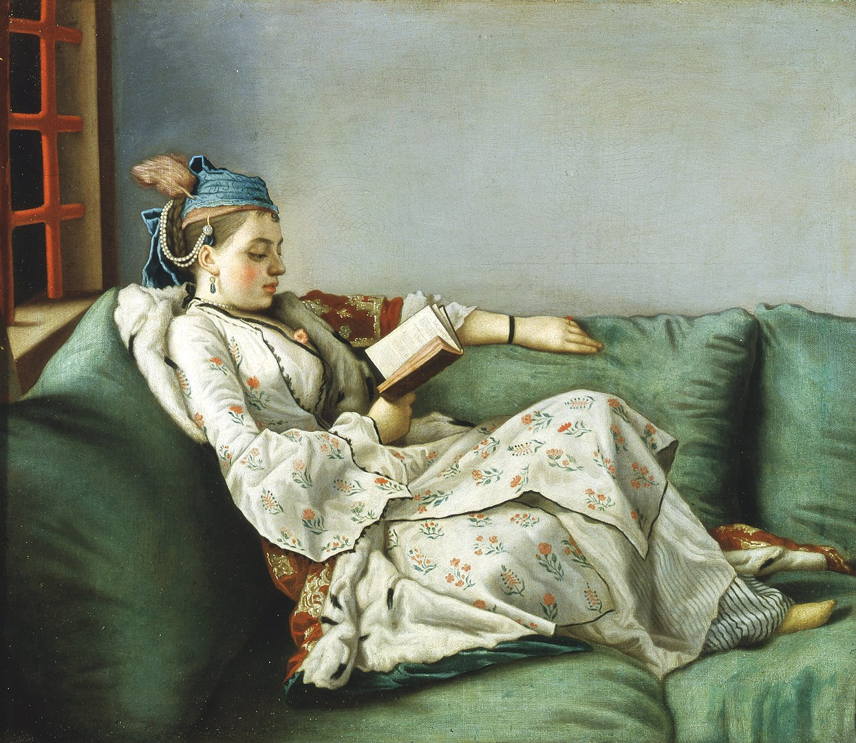 Portrait of Maria Adelaide of France in Turkish-style clothes, by  Jean-Étienne Liotard, 1753