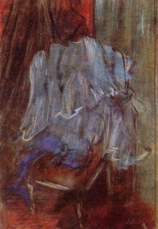 Vestment on a Chair, by Edgar Degas, c. 1887