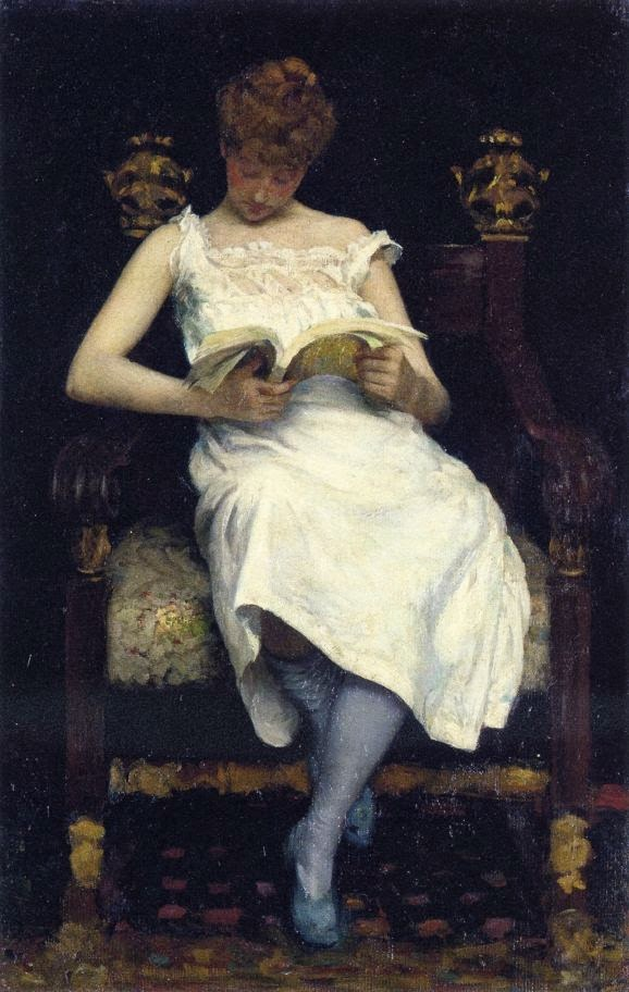 Girl Reading - Edward Emerson Simmons - 1893