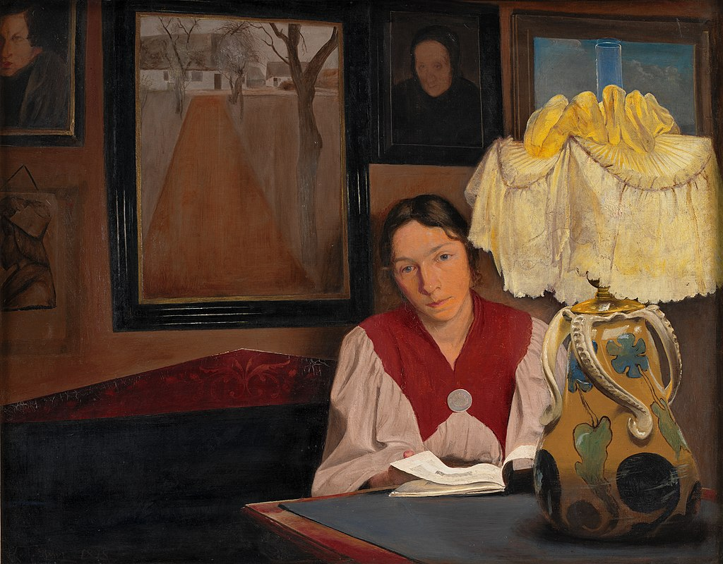 L. A. Ring, Lamplight- The Artist's Wife