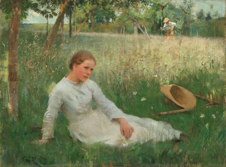 george clausen A Midsummer Day. 1886