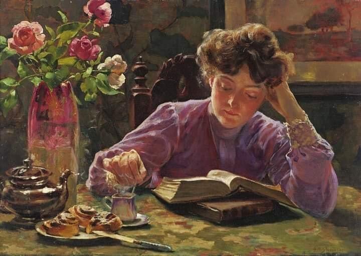 Gustav Max Stevens, Quiet pleasures, 1898