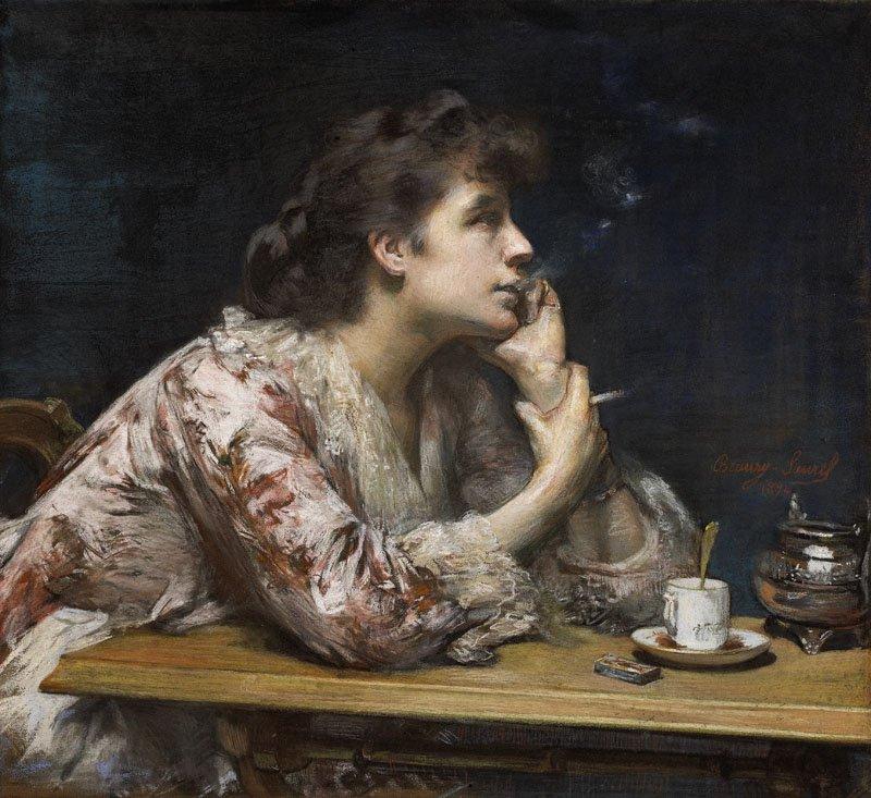 In the blue, 1894 by Amélie Beaury-Saurel