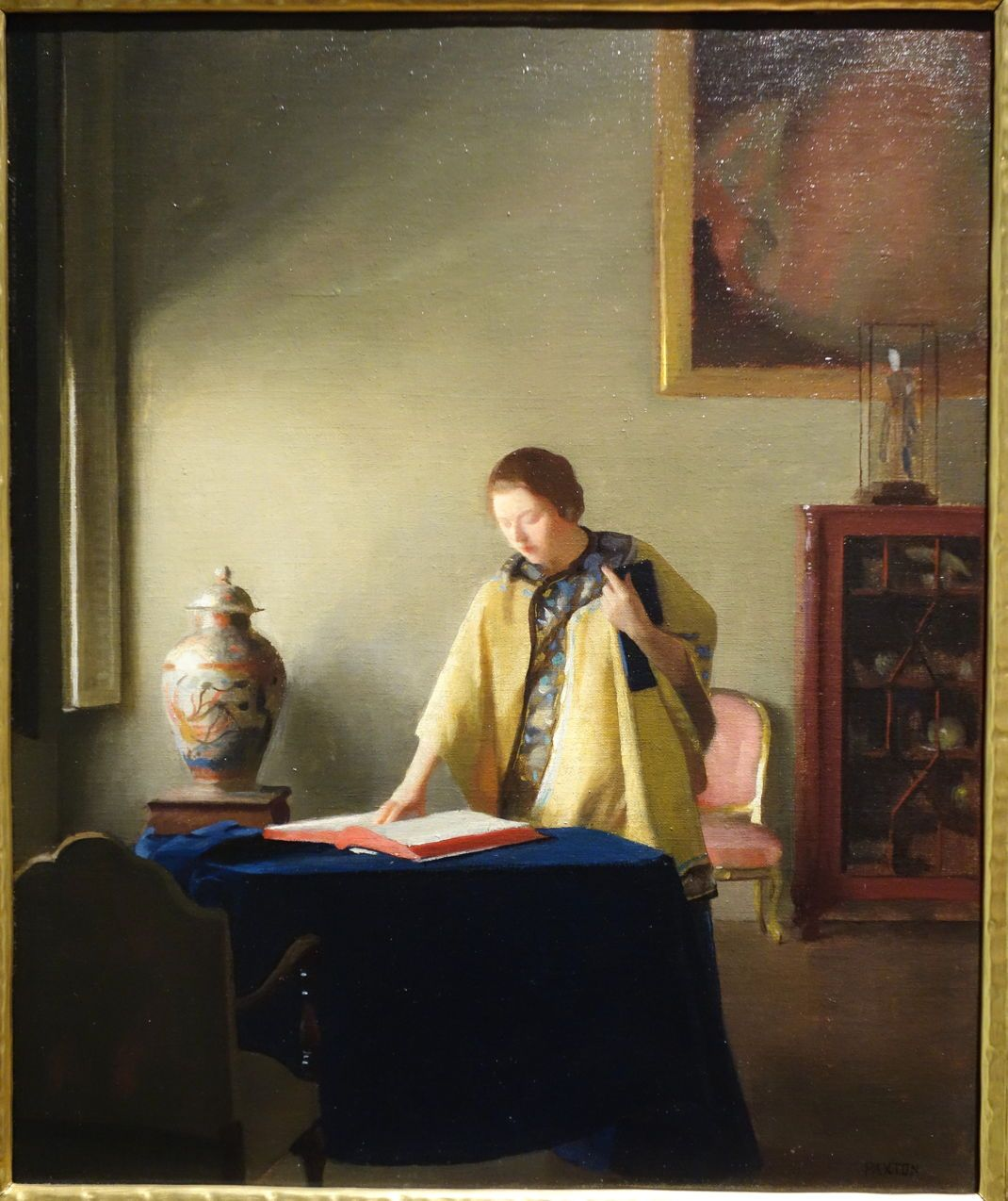 Woman with Book by William McGregor Paxton (1910)