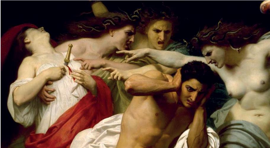 William-Adolphe Bouguereau, 'The Remorse of Orestes'